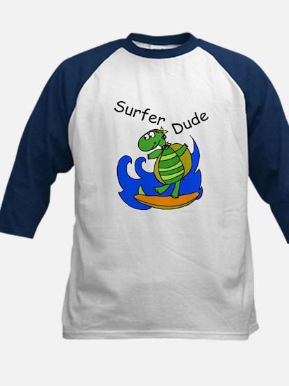 Surfer Dude Kids Baseball Jersey