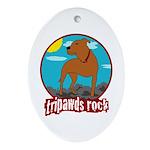 Tripawds Rock (Trouble) Ornament (Oval)