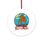 Tripawds Rock (Trouble) Ornament (Round)