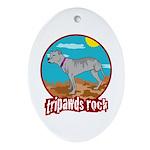 Tripawds Rock - Lottie Ornament (Oval)