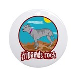 Tripawds Rock - Lottie Ornament (Round)