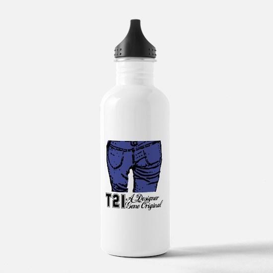 T21 Designer Genes Water Bottle