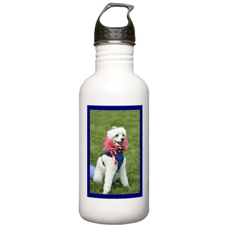 Patriotic poodle Stainless Water Bottle 1.0L