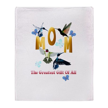 Mom_The Greatest Gift Of All Throw Blanket