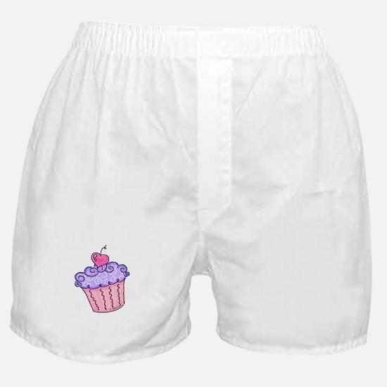 Cupcake w/star (purple) Boxer Shorts
