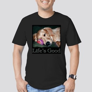 Life is Good Men's Fitted T-Shirt (dark)