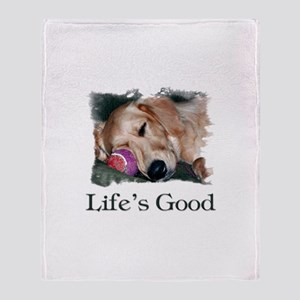 Life is Good Throw Blanket