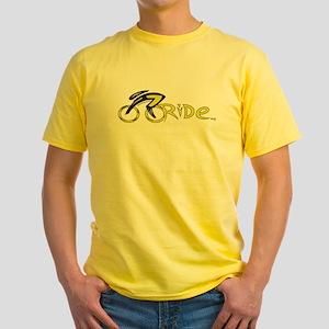 rider aware 2 Yellow T-Shirt