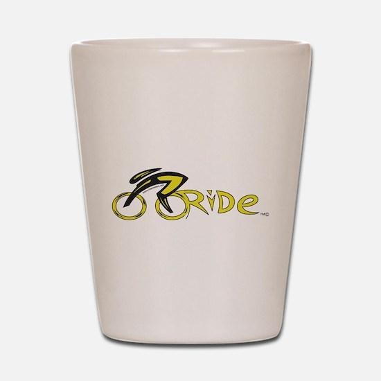 rider aware 2 Shot Glass