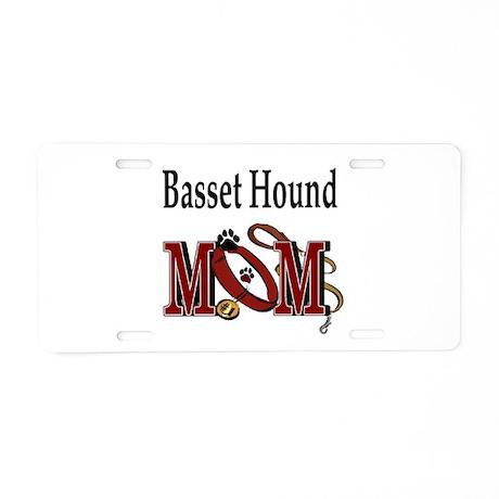 Basset Hound Aluminum License Plate