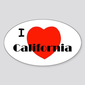 I love California! Oval Sticker
