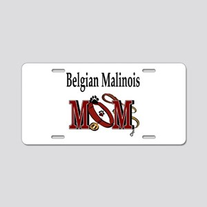 Belgian Malinois Mom Aluminum License Plate