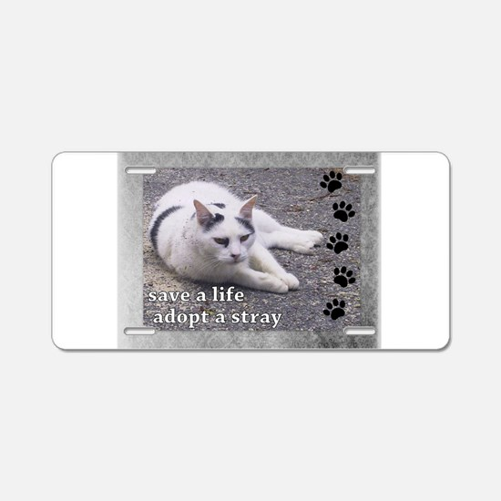 Adopt a Stray Aluminum License Plate