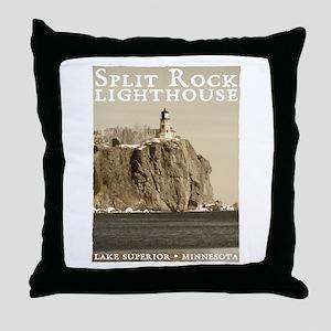 Split Rock Lighthouse Throw Pillow