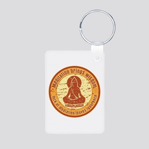 Buddha Meditation Wisdom Aluminum Photo Keychain
