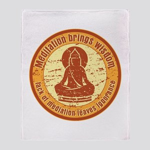 Buddha Meditation Wisdom Throw Blanket
