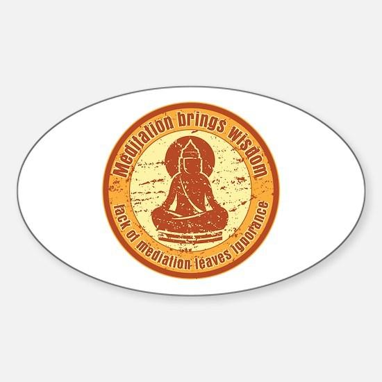 Buddha Meditation Wisdom Sticker (Oval)