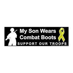 My Son Wears Combat Boots 20x6 Wall Peel