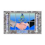 Masonic Welcome to my Home 20x12 Wall Peel