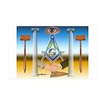 Masonic 35x21 Wall Peel