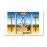 Masonic 20x12 Wall Peel