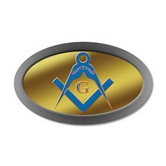 Masonic S&C 35x21 Oval Wall Peel