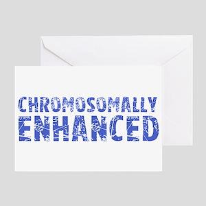 Chromosomally Enhanced Greeting Card