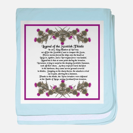 Thistle Legend baby blanket