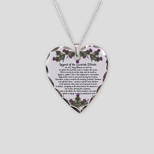 Thistle Legend Necklace Heart Charm