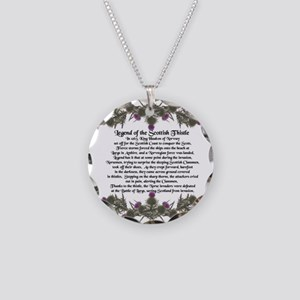 Thistle Legend Necklace Circle Charm