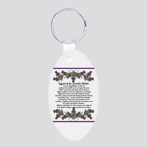 Thistle Legend Aluminum Oval Keychain