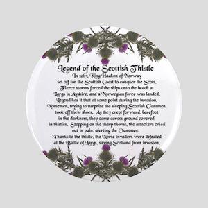 """Thistle Legend 3.5"""" Button"""