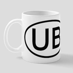 UB - Initial Oval Mug
