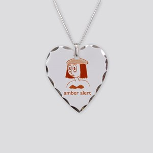 Amber Alert Necklace Heart Charm