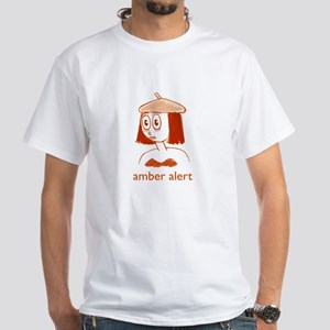 Amber Alert White T-Shirt