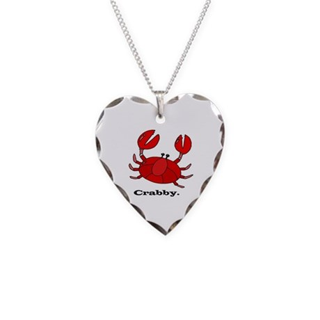 Crabby Necklace Heart Charm