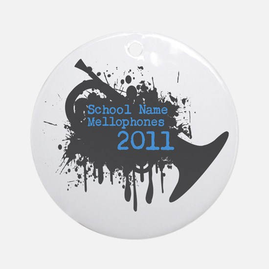 Custom Mellophone Section Ornament (Round)