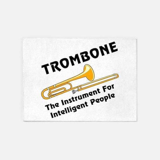 Intelligent Trombone 5'x7'Area Rug