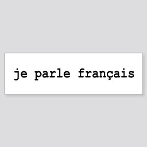 I Speak French Sticker (Bumper)