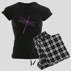 Dragonfly Flute Women's Dark Pajamas