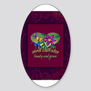 Beautiful Sister Sticker (Oval)