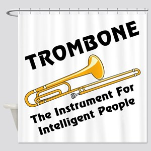 Intelligent Trombone Shower Curtain