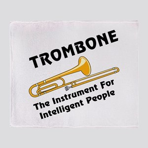 Intelligent Trombone Throw Blanket