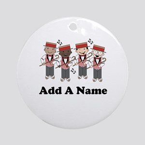 Personalized Barbershop Ornament (Round)