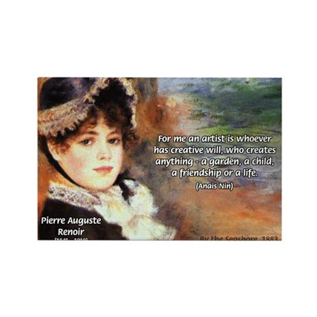 Creative Artists Nin Quote Rectangle Magnet (100 p