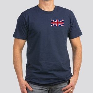 Great Britain Union Flag Men's Fitted T-Shirt (dar