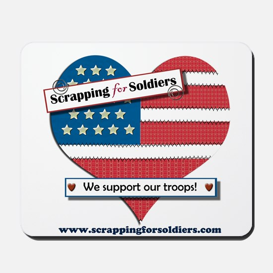Scrapping for Soldiers Mousepad