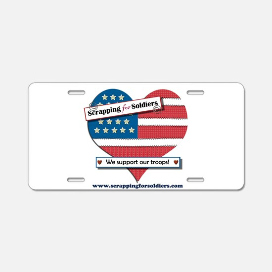 Scrapping for Soldiers Aluminum License Plate