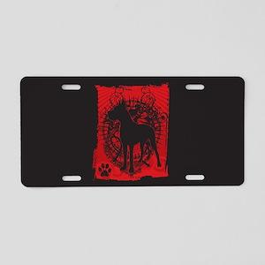 Grunge Great Dane Aluminum License Plate