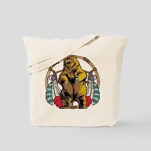 Bear Dream Catcher Tote Bag